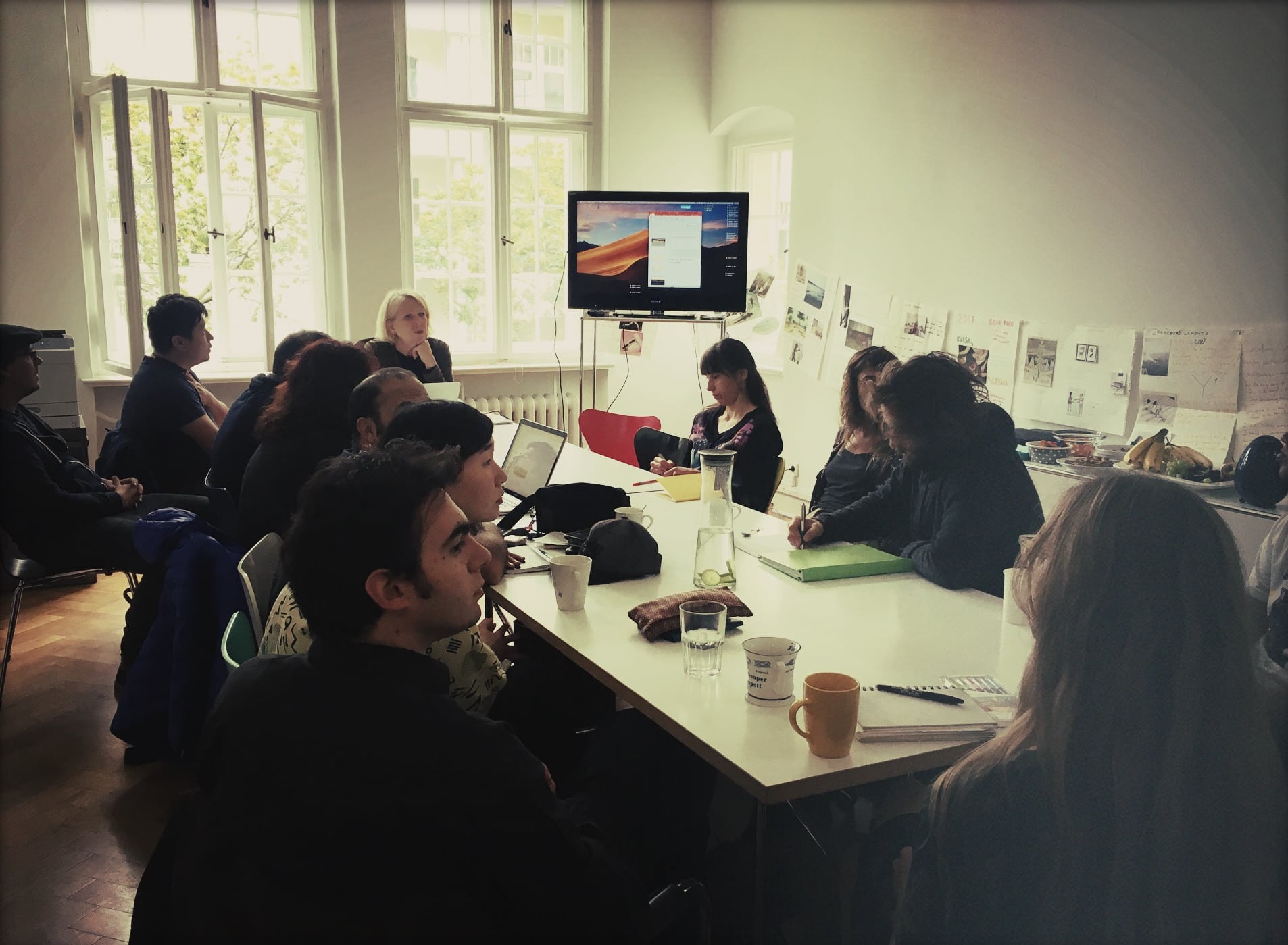 "Berlin Film Residencies – Workshop ""How to Pitch"" with Brigitta Manthey in the new NIPKOW headquarters with the BERLIN AiR and NIPKOW fellows, 2019"