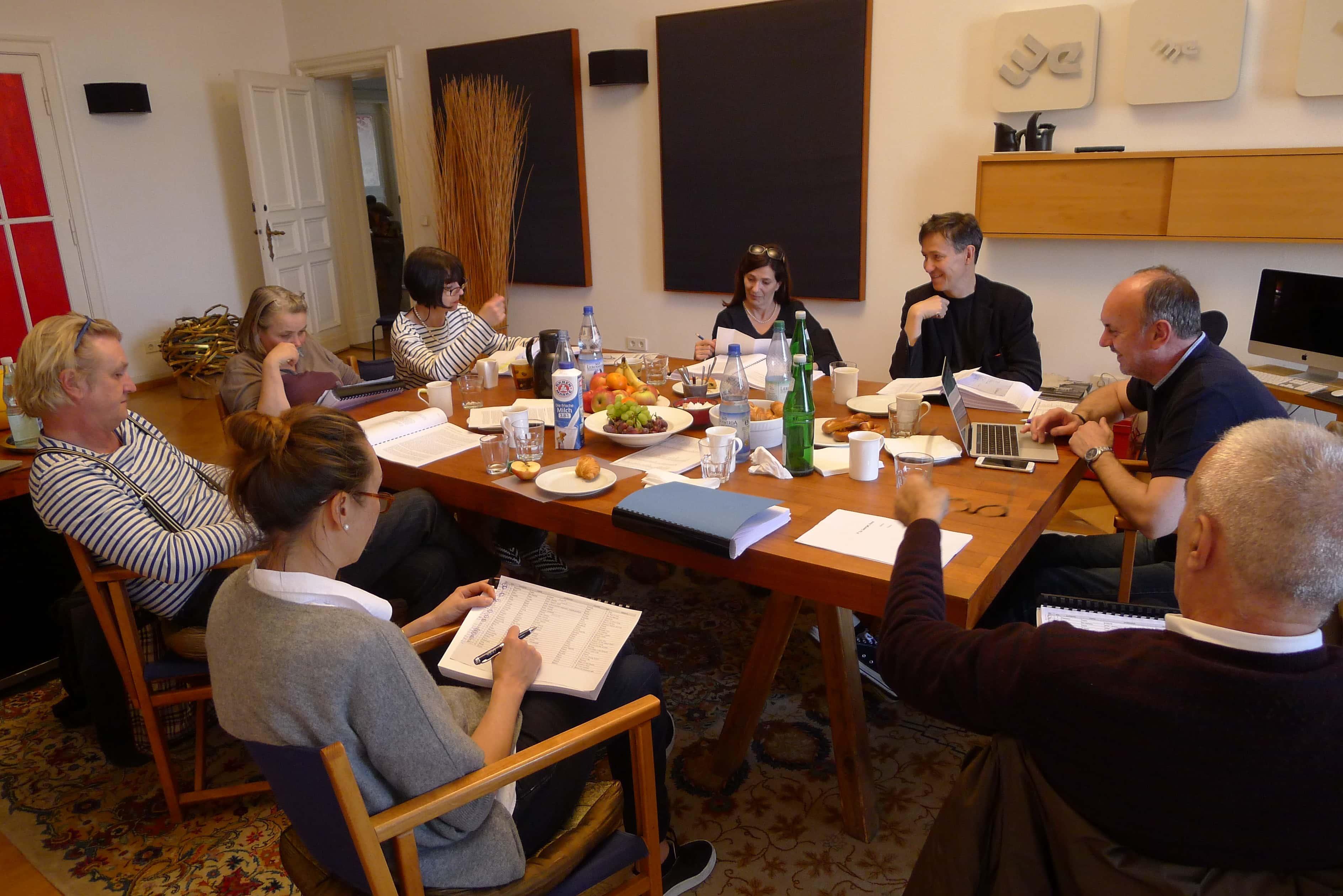 Berlin Film Residencies – NIPKOW PROGRAMM Jury Session 2018, Od Howell, Detlev Buck, Wenka von Mikulicz, Petra Weisenburger, Christine Camdessus, Stefan Laudyn, Danijel Hocevar and Cedomir Kolar
