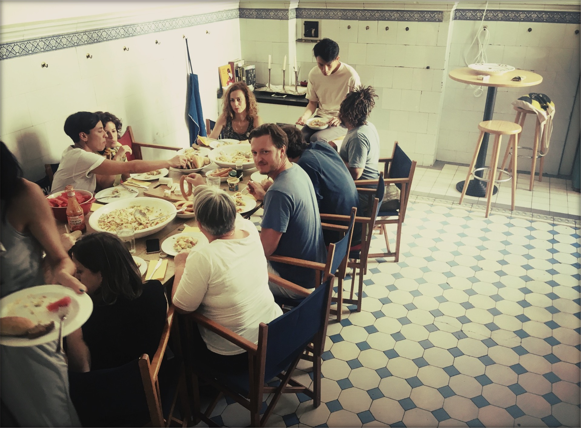 "Berlin Film Residencies – Workshop ""My Script, my Character"" lunch in the NIPKOW kitchen, 2018"