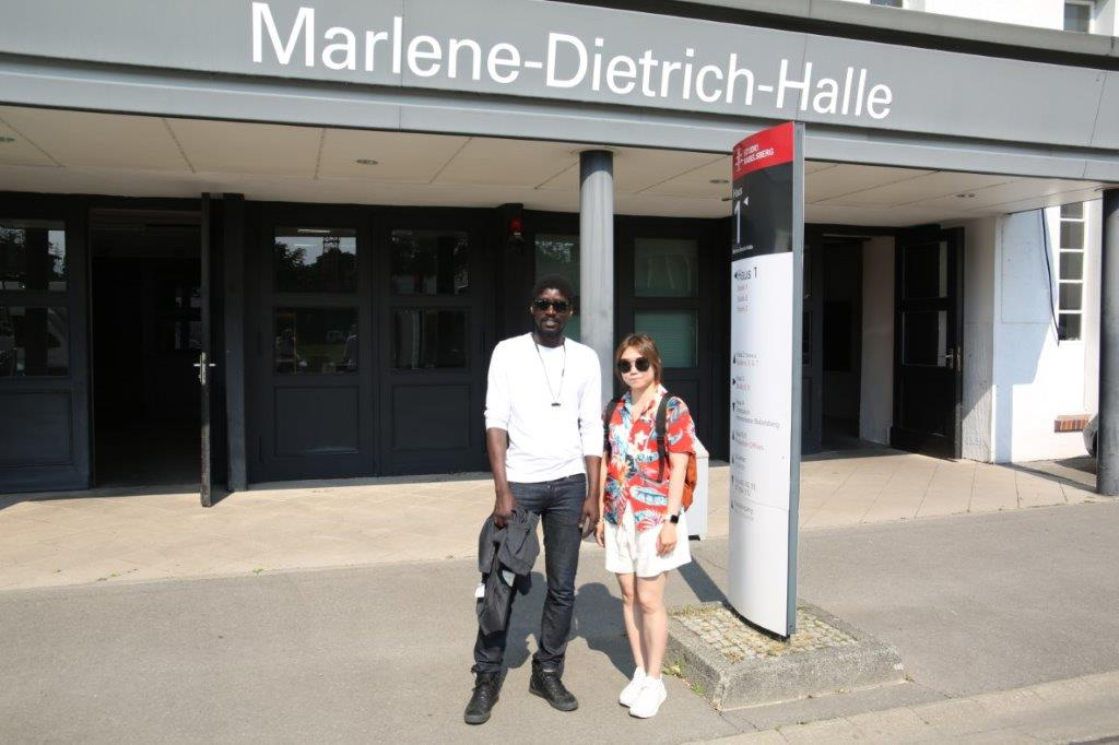 Berlin Film Residencies – 2019 BERLIN AiR fellows Gilitte Leung and Alassane Sy visiting Studio Babelsberg