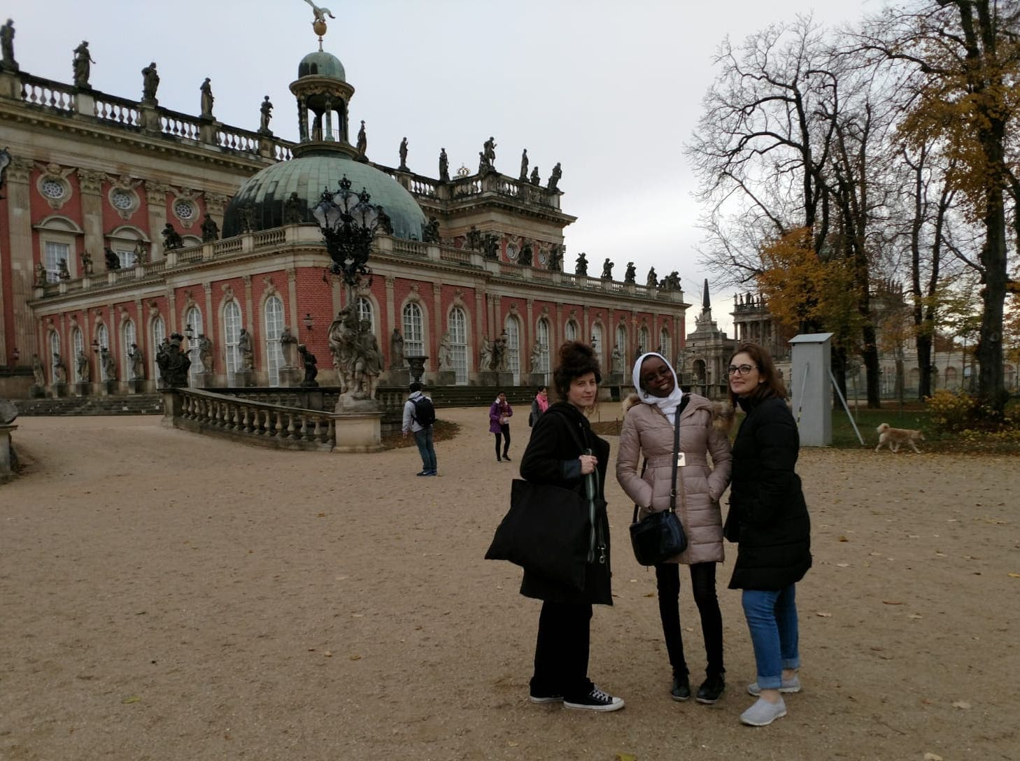 Berlin Film Residencies – 2018 BERLIN AiR fellows Hadar Morag, Aicha Macky and Laila Abbas visiting Park Sanssouci