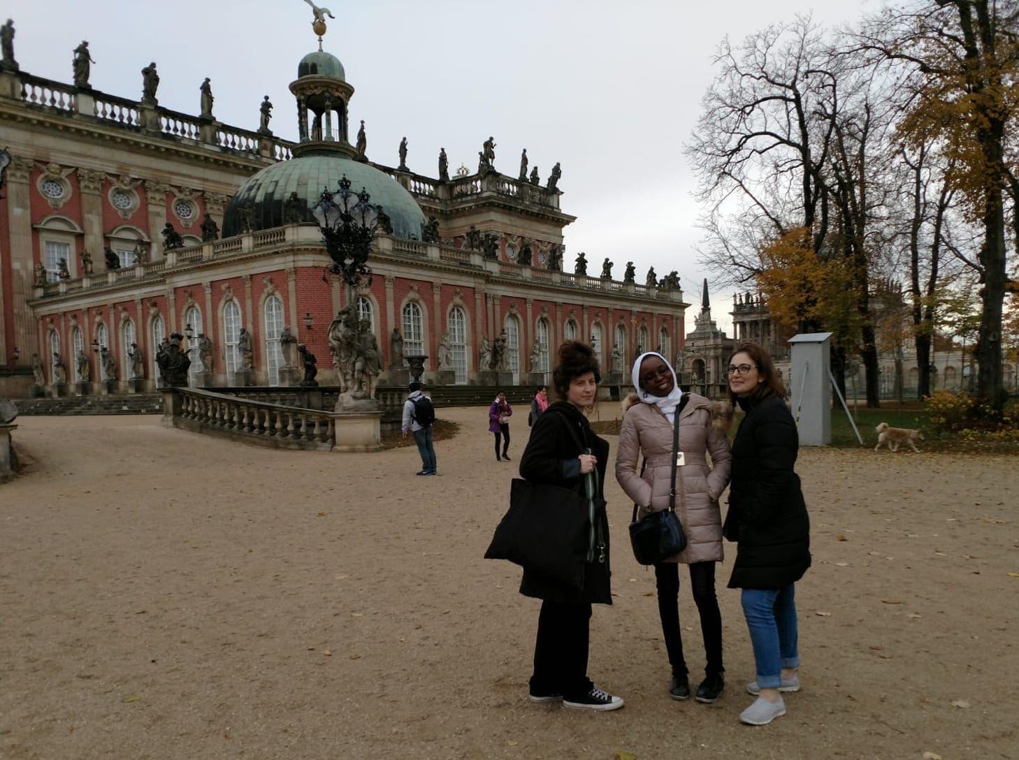 Berlin Film Residencies – 2018 BERLIN AiR fellows Hadar Morag, Aicha Macky and Laila Abbas visiting Park Sanssouci