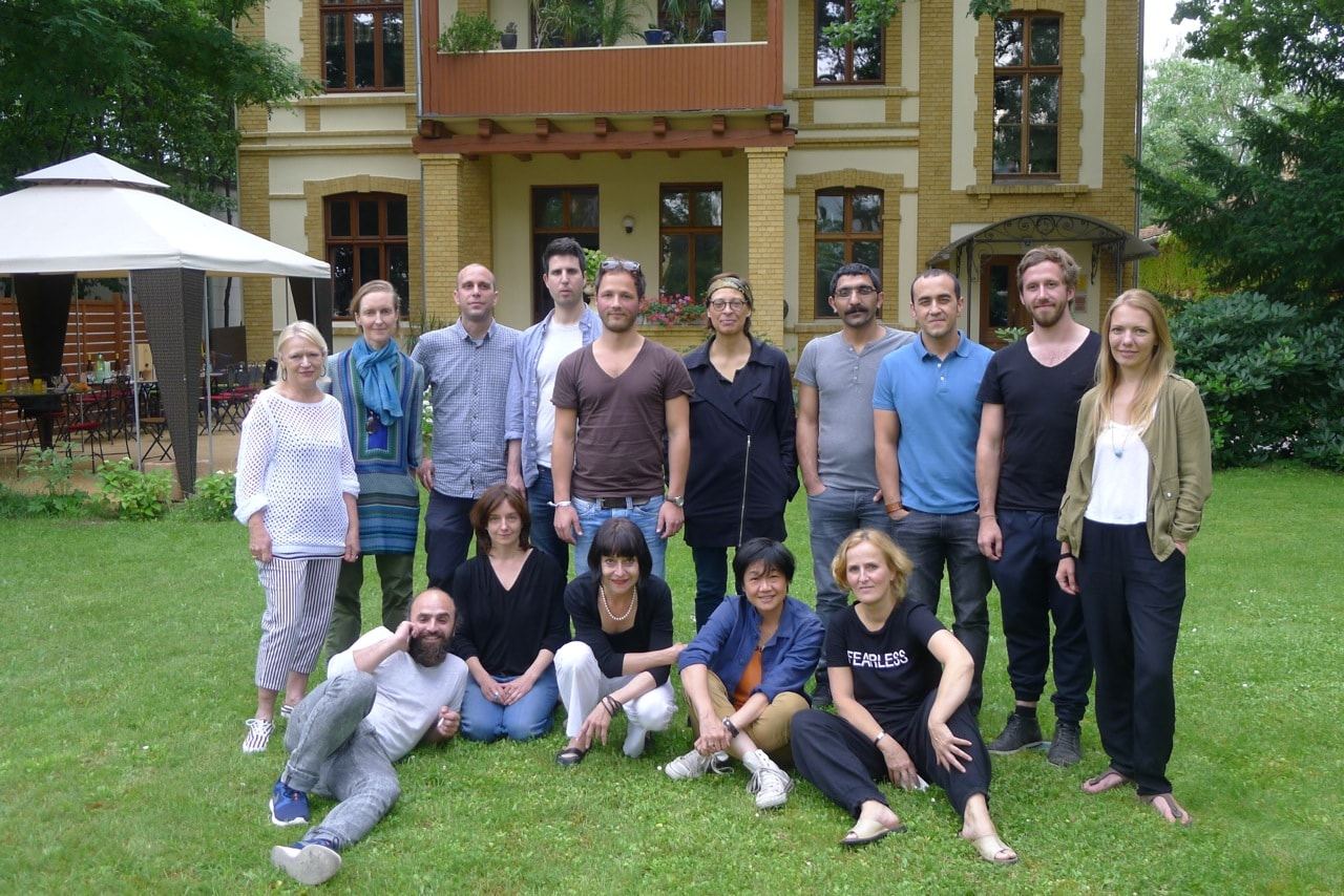 "Berlin Film Residencies – Workshop ""The Art of Negotiation"" 2016 with BERLIN AiR fellow Susie Au at Villa Kult with NIPKOW fellows and the experts Renate Roginas and Petra Padberg"